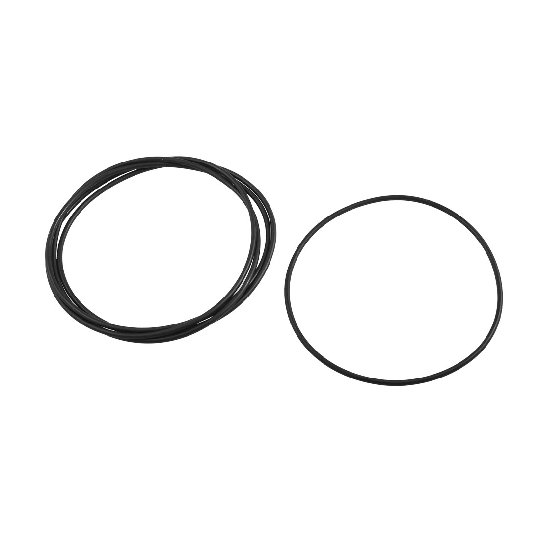 5 Pcs Mechanical Black Rubber O Ring Oil Seal Gaskets 95mm x 90mm x 2.4mm