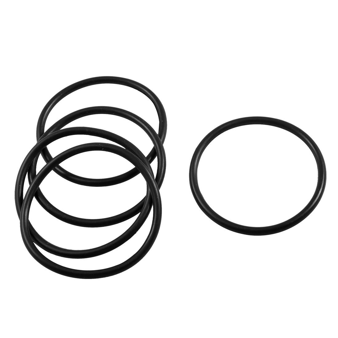 5 Pcs 75mm x 66mm x 4.6mm Industrial Black Rubber O Ring Oil Seal Gaskets