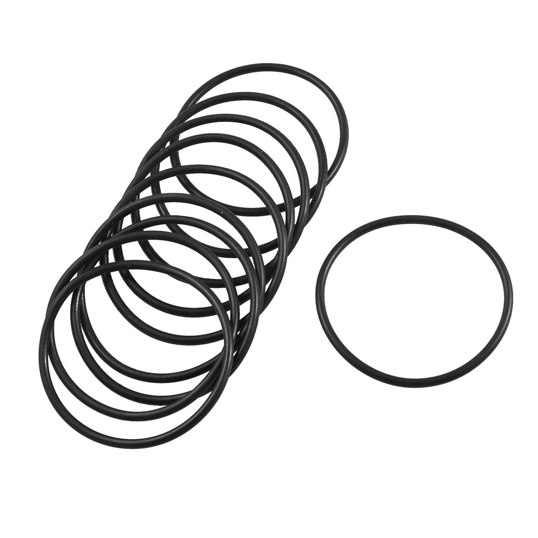 10 Pcs 62mm x 55.8mm x 3.1mm Mechanical Flexible Rubber O Ring Oil Seal Gaskets