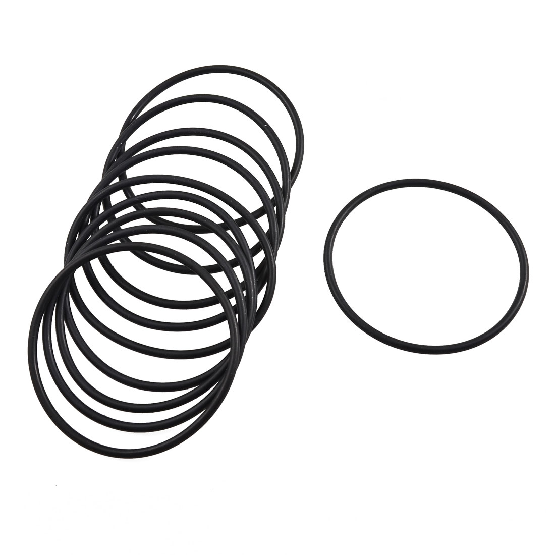 10 Pcs Mechanical Black Rubber O Ring Oil Seal Gaskets 70mm x 63.8mm x 3.1mm