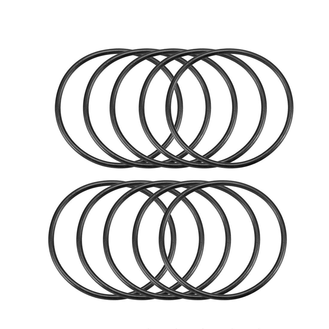 69mm x 3.1mm Flexible Rubber O Ring Sealing Washer Black 10 Pcs