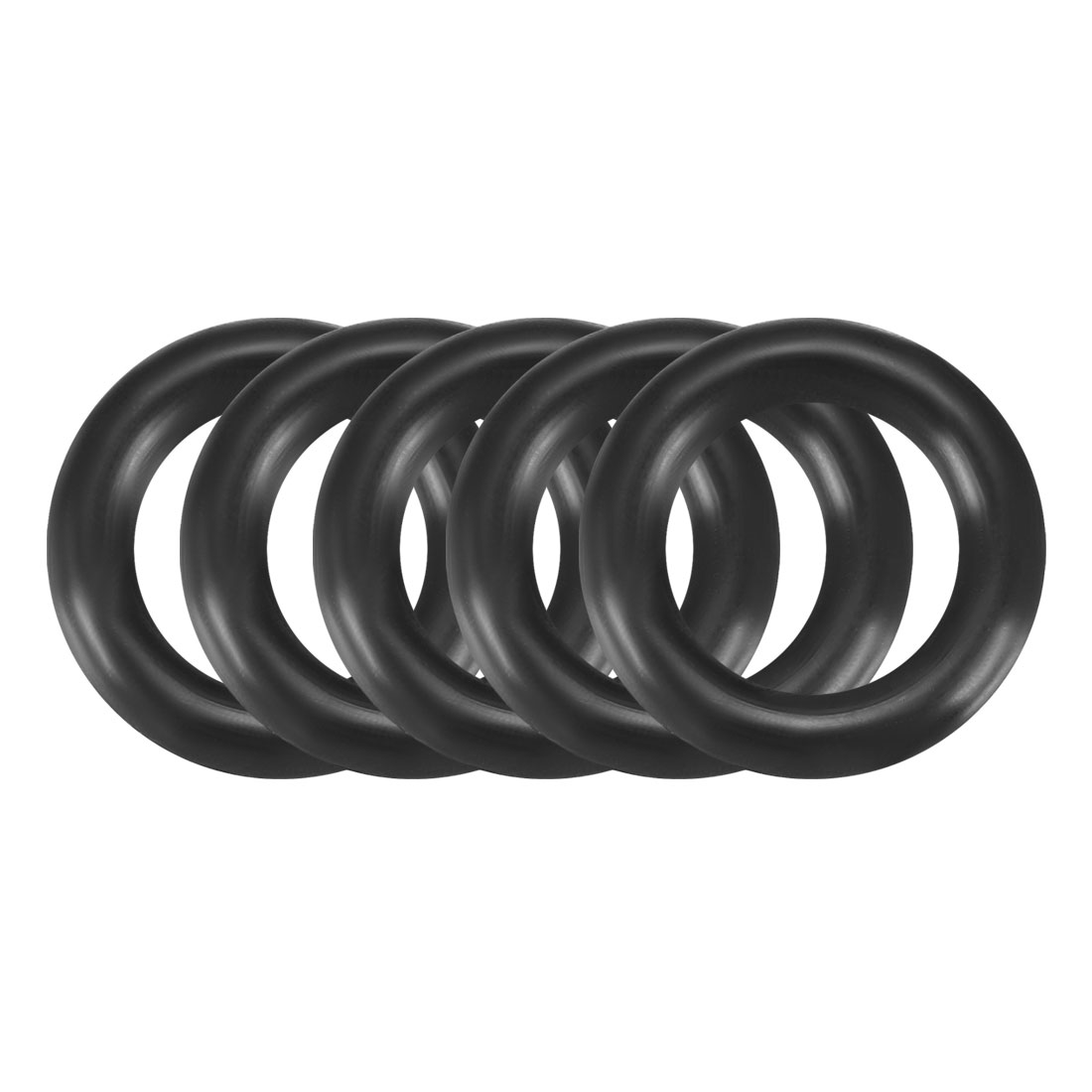 5 Pcs 17mm x 5mm Black Silicone O Rings Oil Seals Gaskets