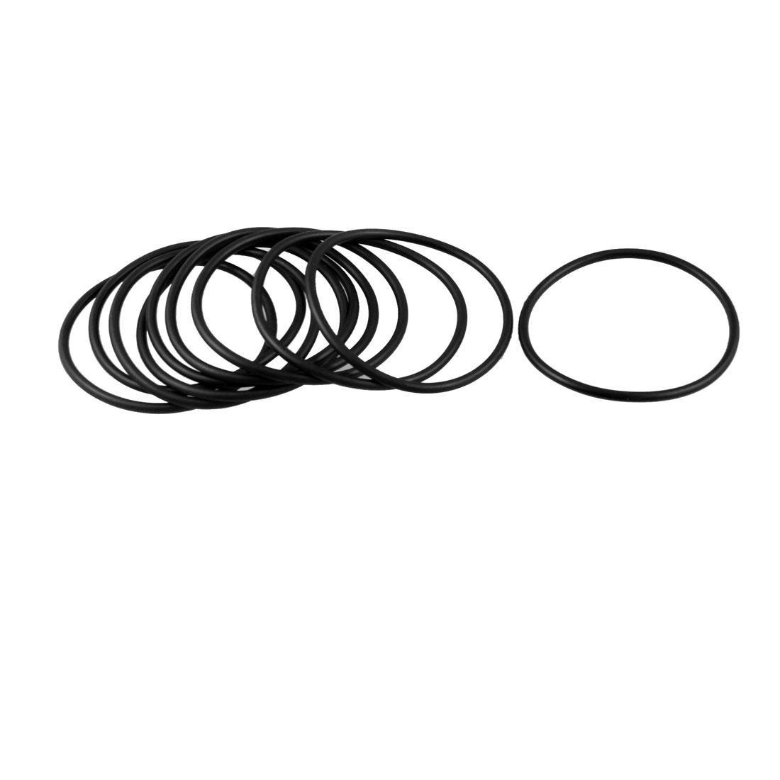 10 Pcs 63mm x 3.1mm Flexible Rubber O Rings Sealing Washer Black