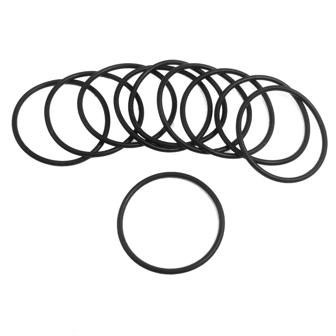 10 Pcs 44mm x 2.4mm Black Silicone O Rings Oil Seals Gaskets