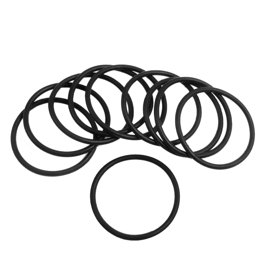 10 Pcs 38mm x 2.4mm Black Silicone O Rings Oil Seals Gaskets