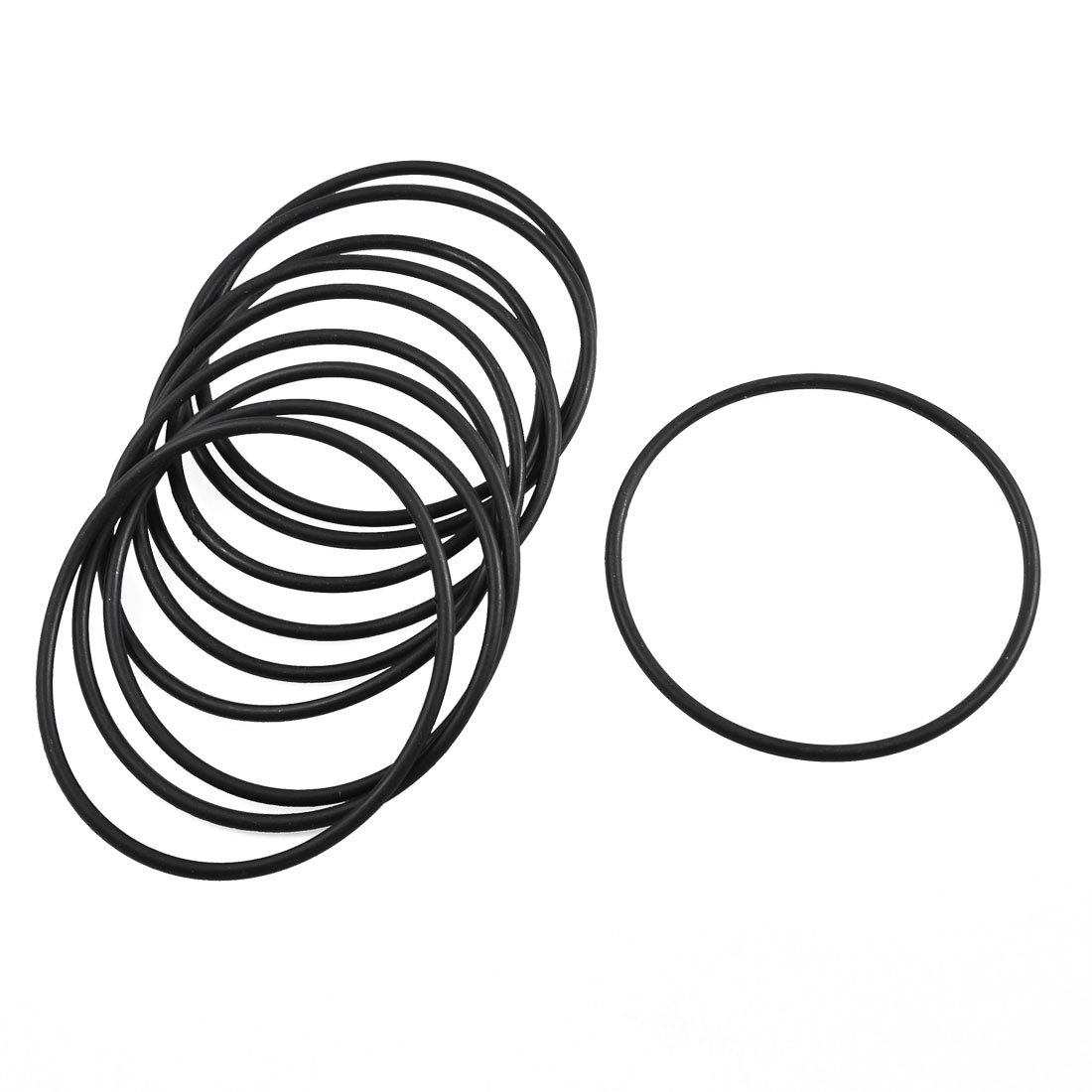 10 Pcs 78mm x 71.8mm x 3.1mm Mechanical Black Rubber O Ring Oil Seal Gaskets