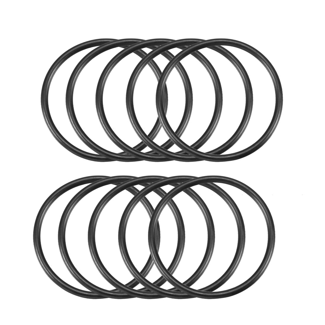 10 Pcs 40mm x 2.65mm Black Silicone O Rings Oil Seals Gaskets