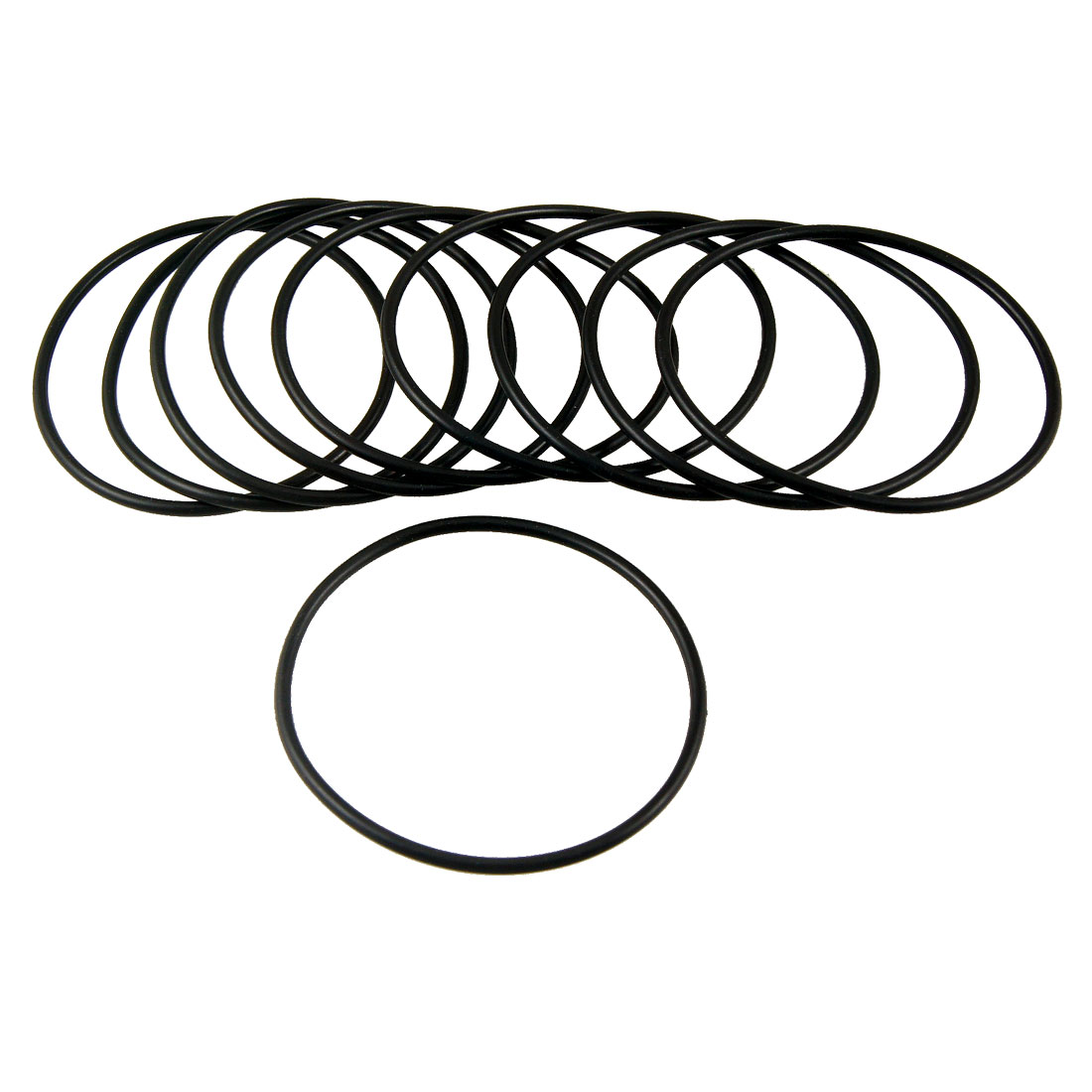 85mm x 3.1mm Flexible Rubber O Ring Sealing Washer Black 10 Pcs