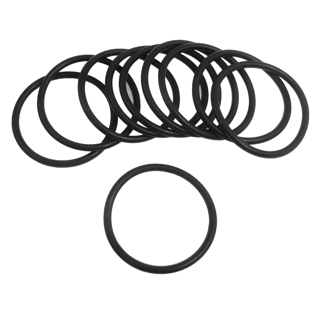 10 Pcs 33.5mm x 2.65mm Black Silicone O Rings Oil Seals Gaskets