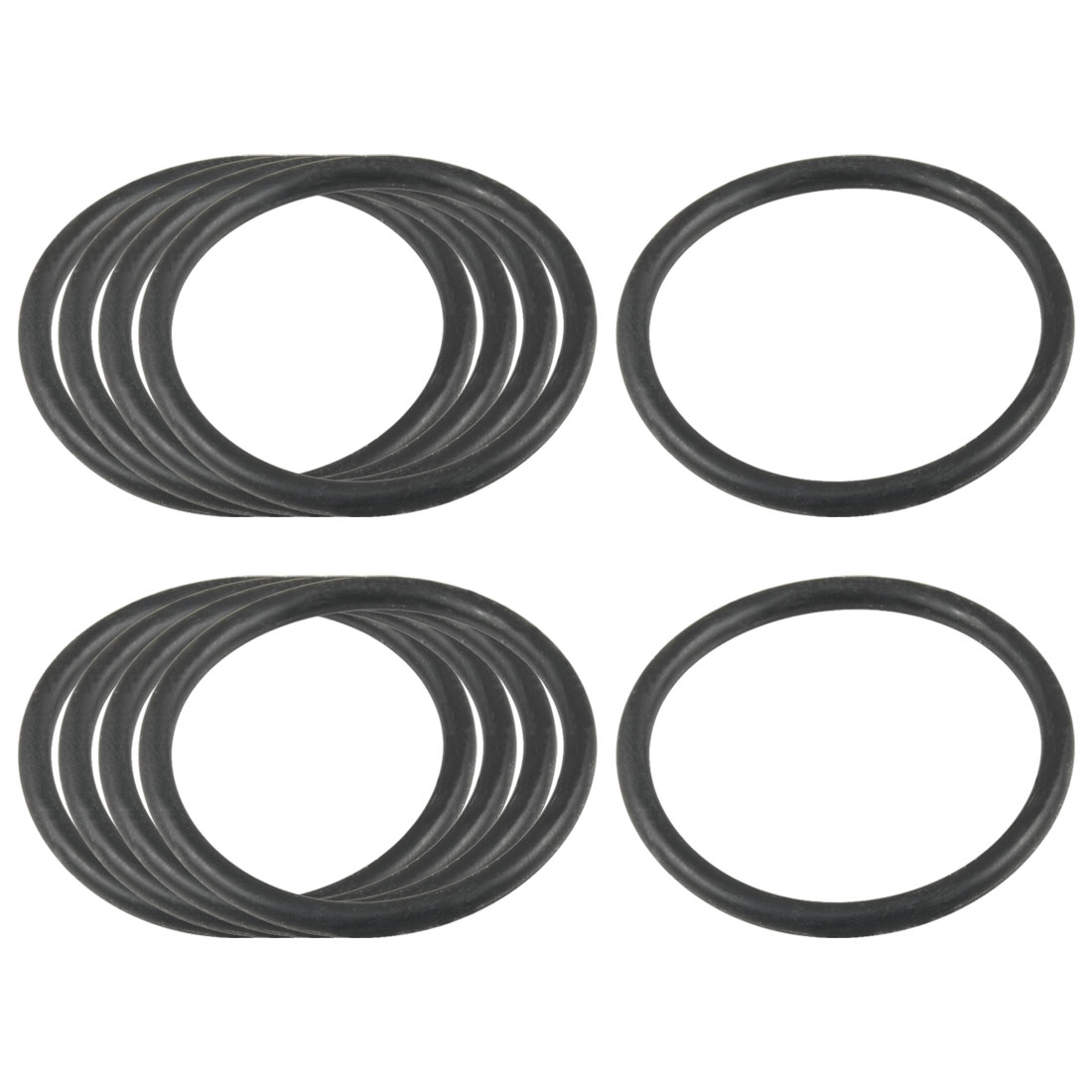 10Pcs Industrial Rubber O Ring Oil Filter Sealing Gaskets 41mm x 3.1mm