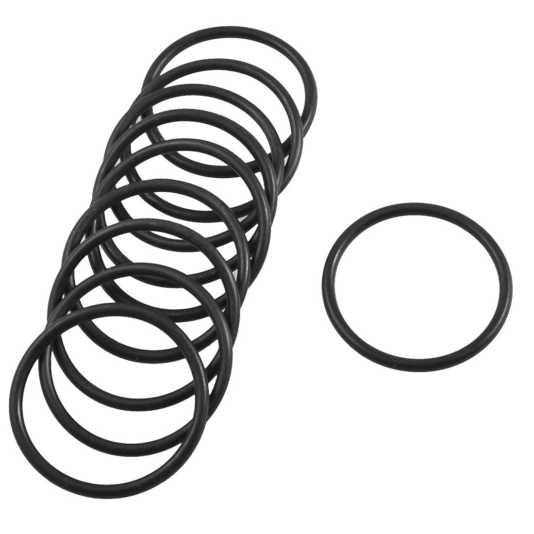 10 Pcs 44mm x 36.9mm x 3.1mm Mechanical Black Rubber O Ring Oil Seal Gaskets