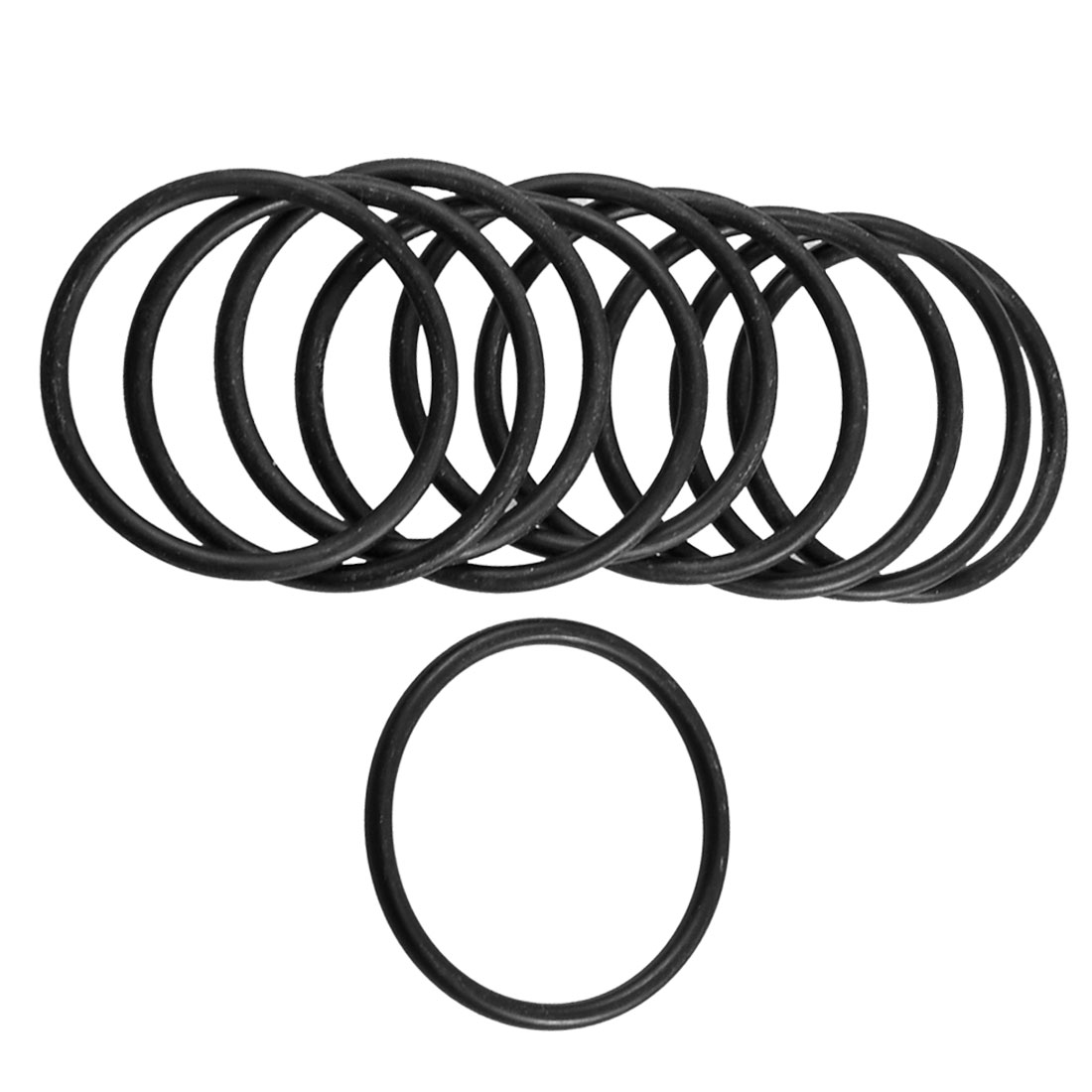 10 Pcs Mechanical Rubber O Ring Oil Seal Gaskets 43mm x 37mm x 3.1mm