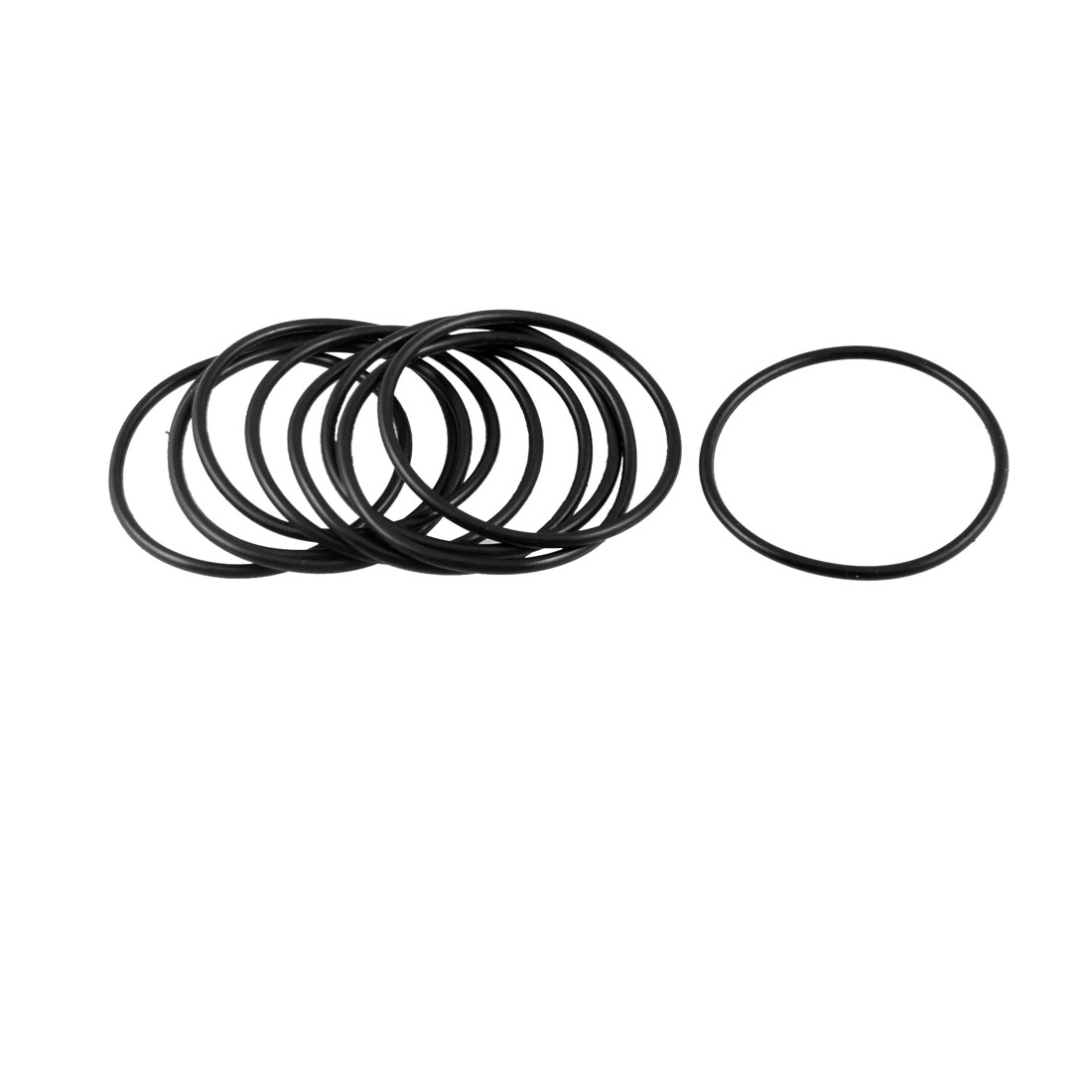 54mm x 2.65mm x 48.7mm Rubber Sealing Oil Filter O Rings Gaskets 10 Pcs