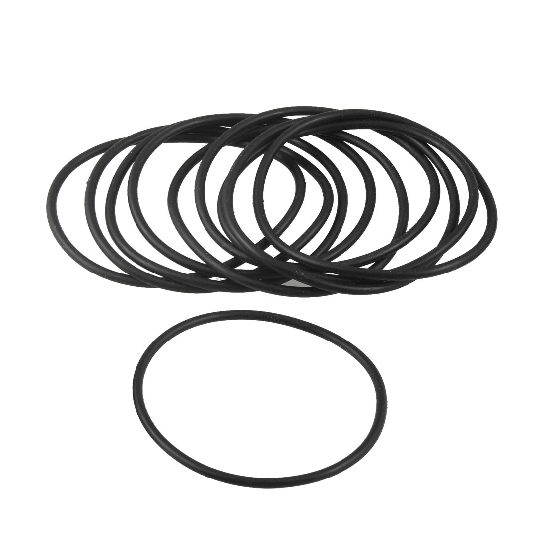 75mm x 3.1mm x 68.8mm Rubber Sealing Oil Filter O Rings Gaskets 10 Pcs