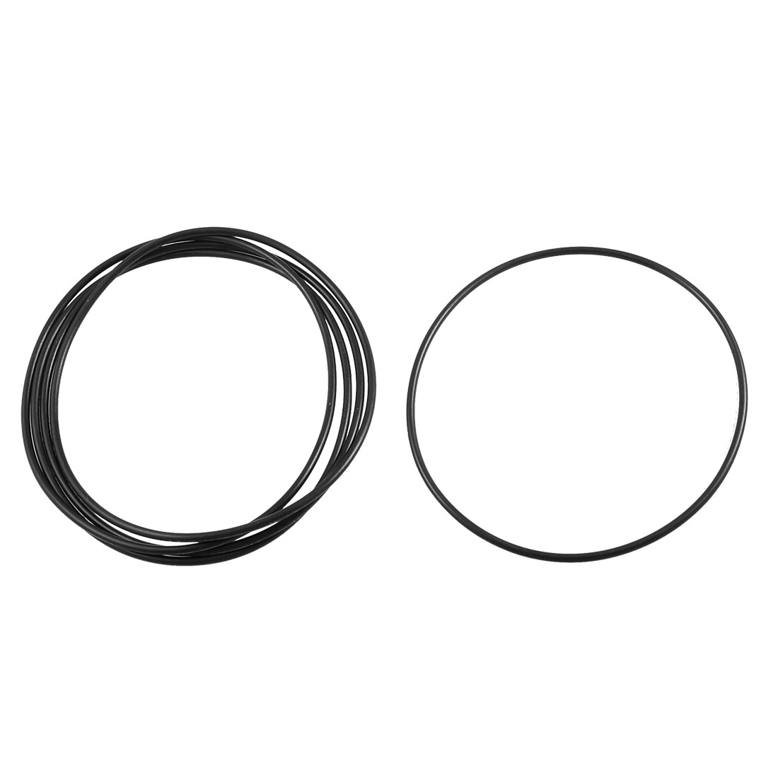 5 Pcs Black Rubber Sealing Oil Filter O Rings Gaskets 105mm x 100mm x 2.65mm