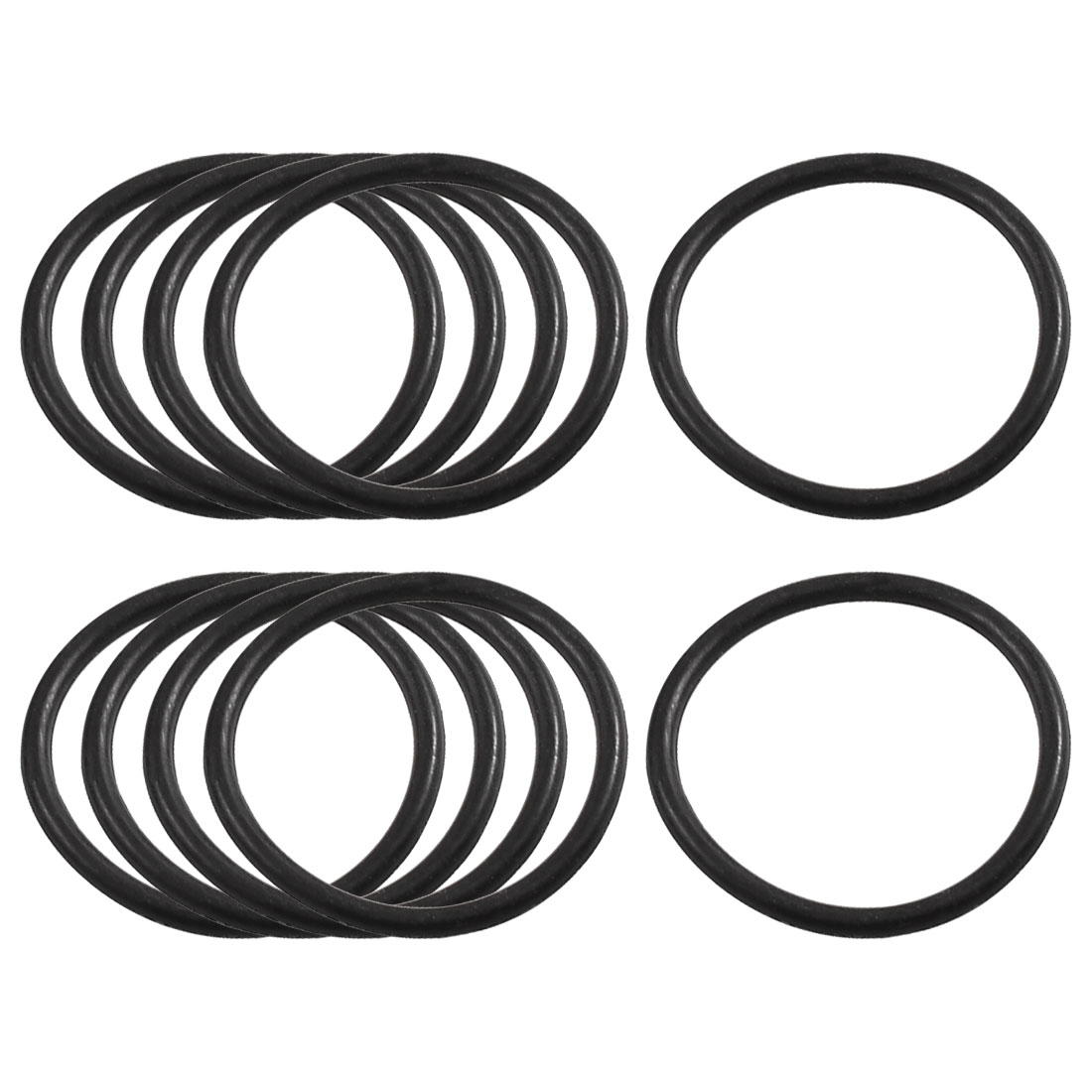 10 Pcs 40mm x 34mm x 3.1mm Mechanical Rubber O Ring Oil Seal Gaskets Black