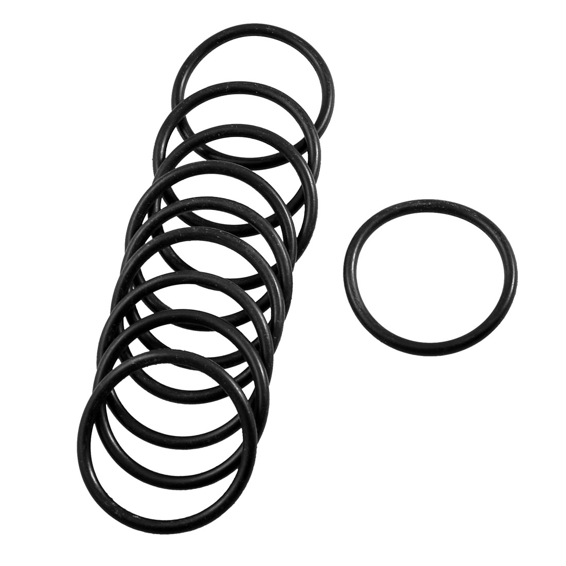 10 Pcs Mechanical Black Rubber O Ring Oil Seal Gaskets 39mm x 32mm x 3.1mm