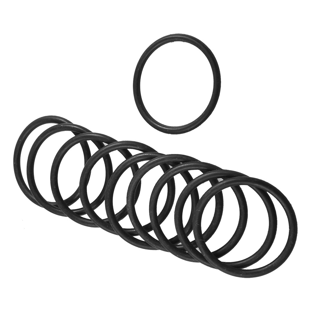 10 Pcs Mechanical Black Rubber O Ring Oil Seal Gaskets 38mm x 32mm x 3.1mm