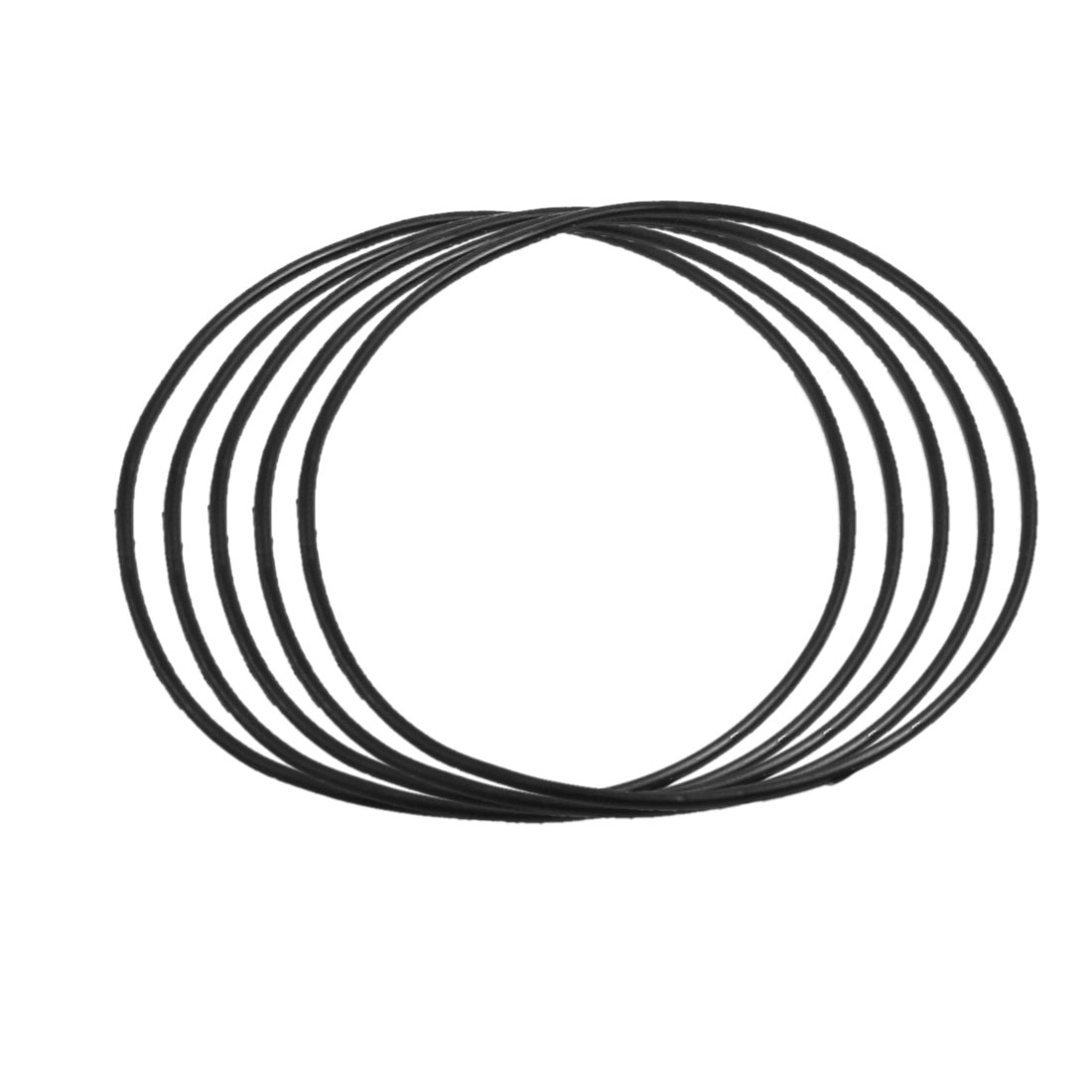5 Pcs 103mm x 2.65mm Black Silicone O Rings Oil Seals Gaskets