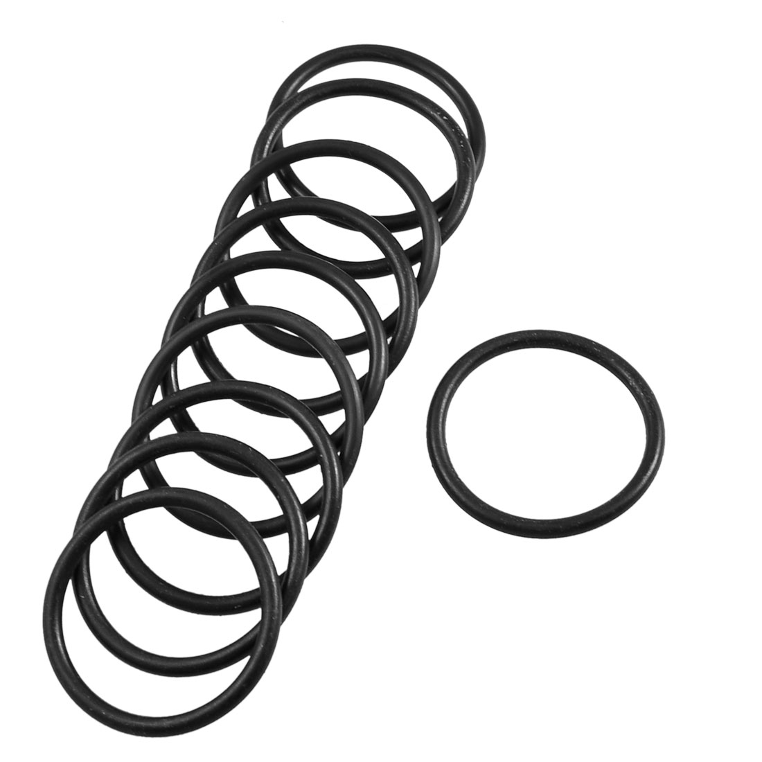 10 Pcs Industrial Rubber O Ring Oil Seal Gaskets 37mm x 30mm x 3.1mm