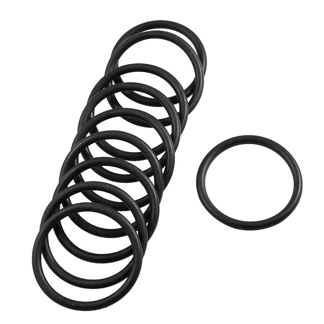 10 Pcs Mechanical Black Rubber O Ring Oil Seal Gaskets 36mm x 30mm x 3.1mm