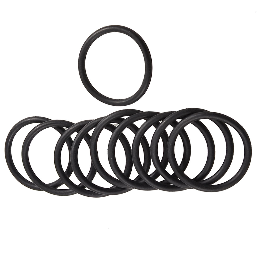 10 Pcs 35mm x 28mm x 3.1mm Mechanical Rubber O Ring Oil Seal Gaskets Black