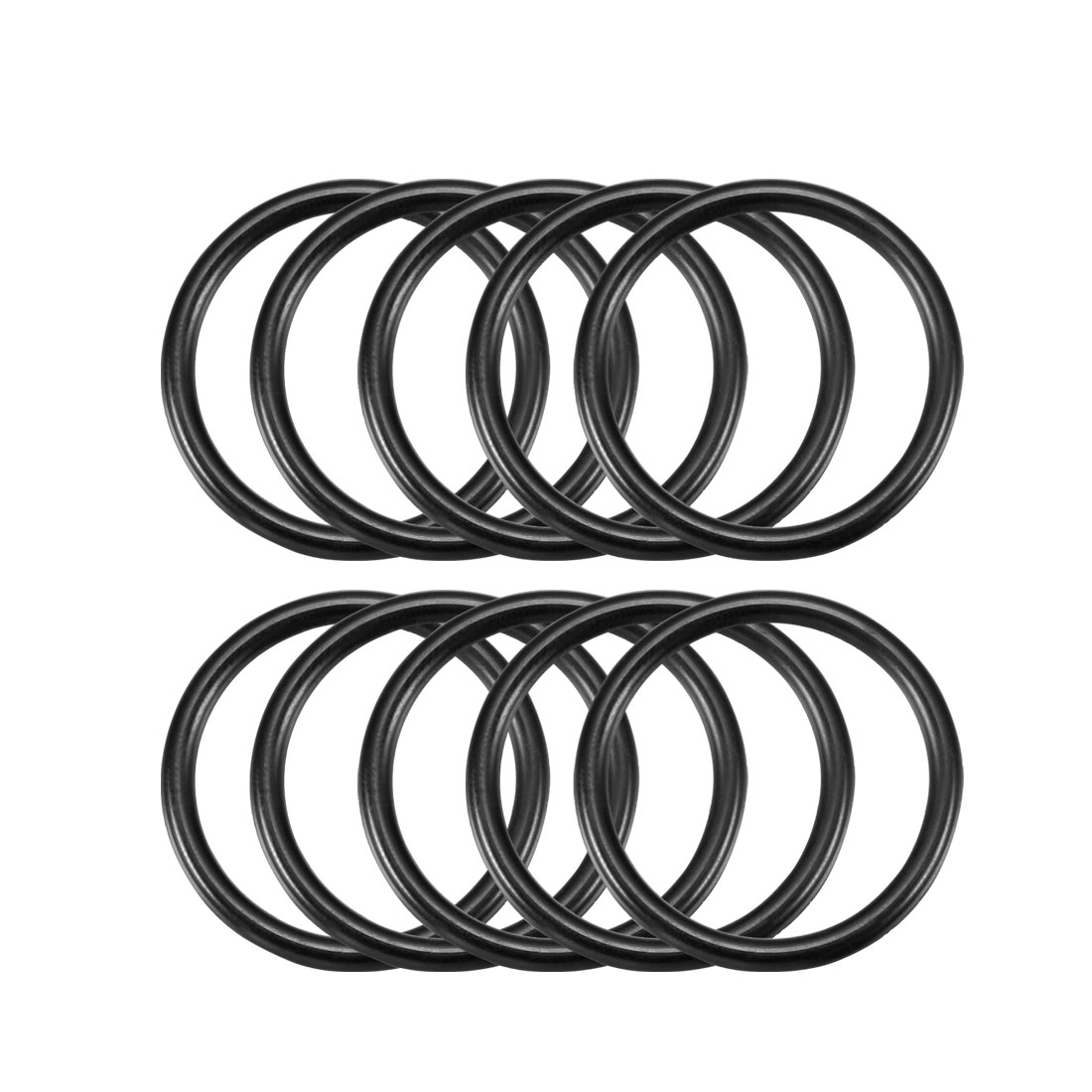 10 Pcs 34mm x 27mm x 3.1mm Black Rubber O Ring Oil Seal Gaskets