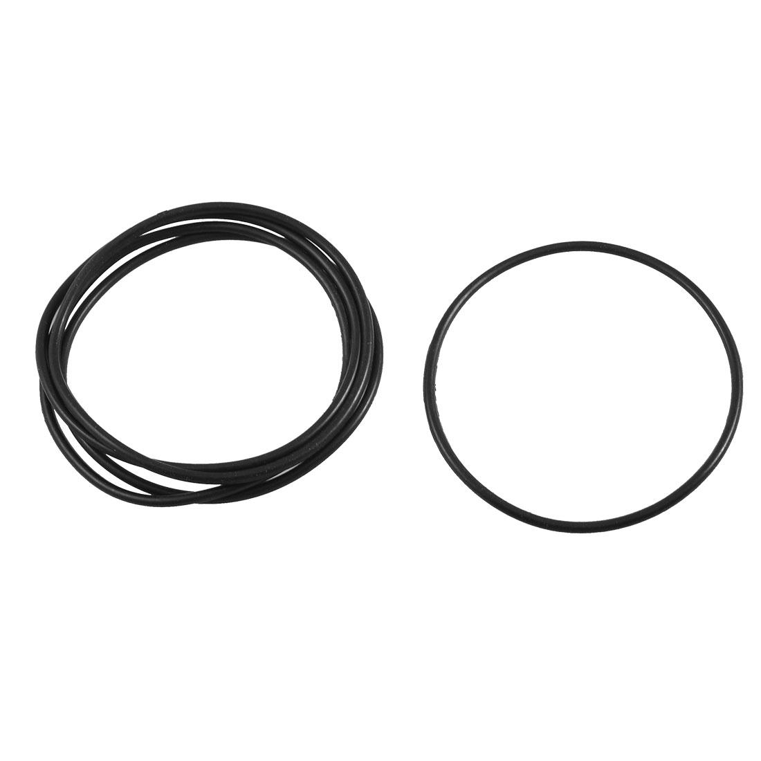 5 Pcs Black Rubber Sealing Oil Filter O Rings Gaskets 74.3mm x 69mm x 2.65mm