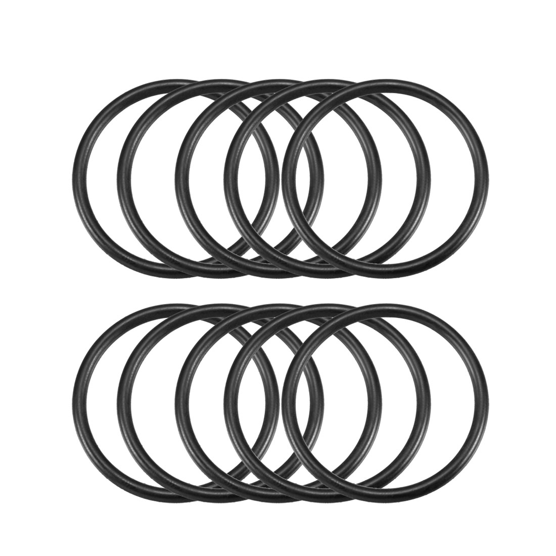 10 Pcs 37.8mm x 32.5mm x 2.65mm Black Silicone O Rings Oil Seals Gaskets