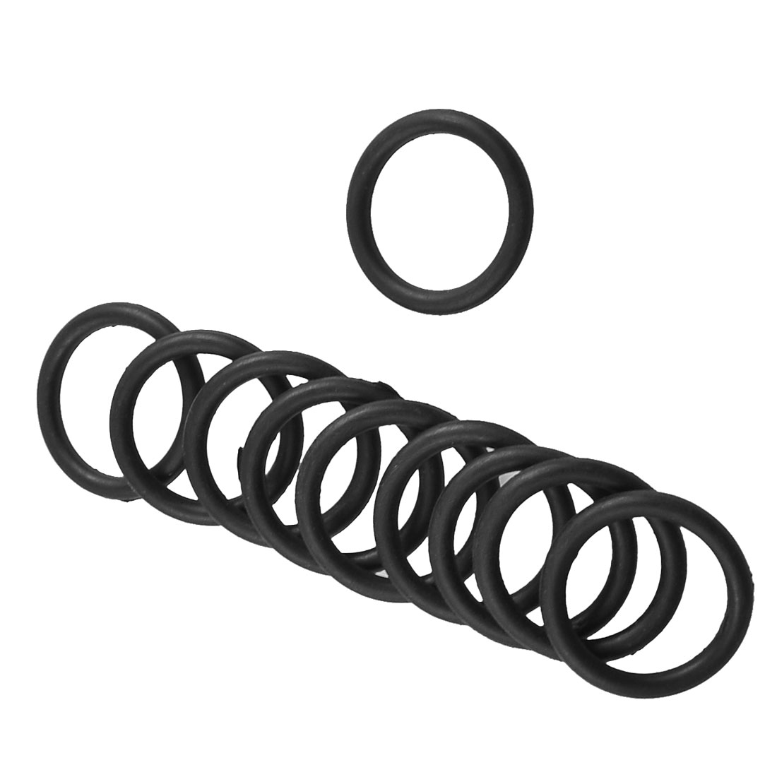 10 Pcs 25mm x 18mm x 3.1mm Mechanical Rubber O Ring Oil Seal Gaskets