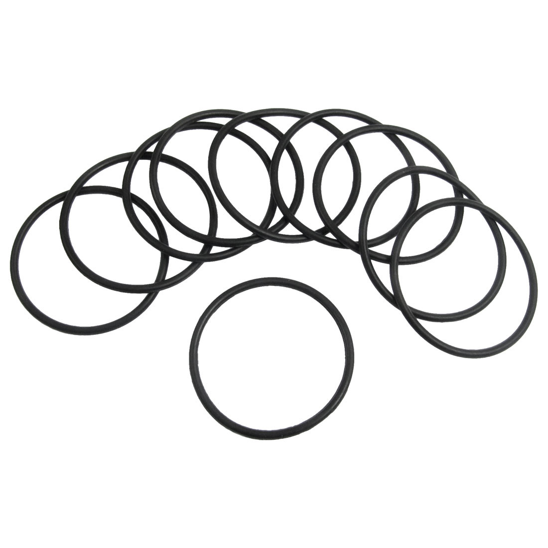 10 Pcs 42.5mm x 2.65mm Black Silicone O Rings Oil Seals Gaskets