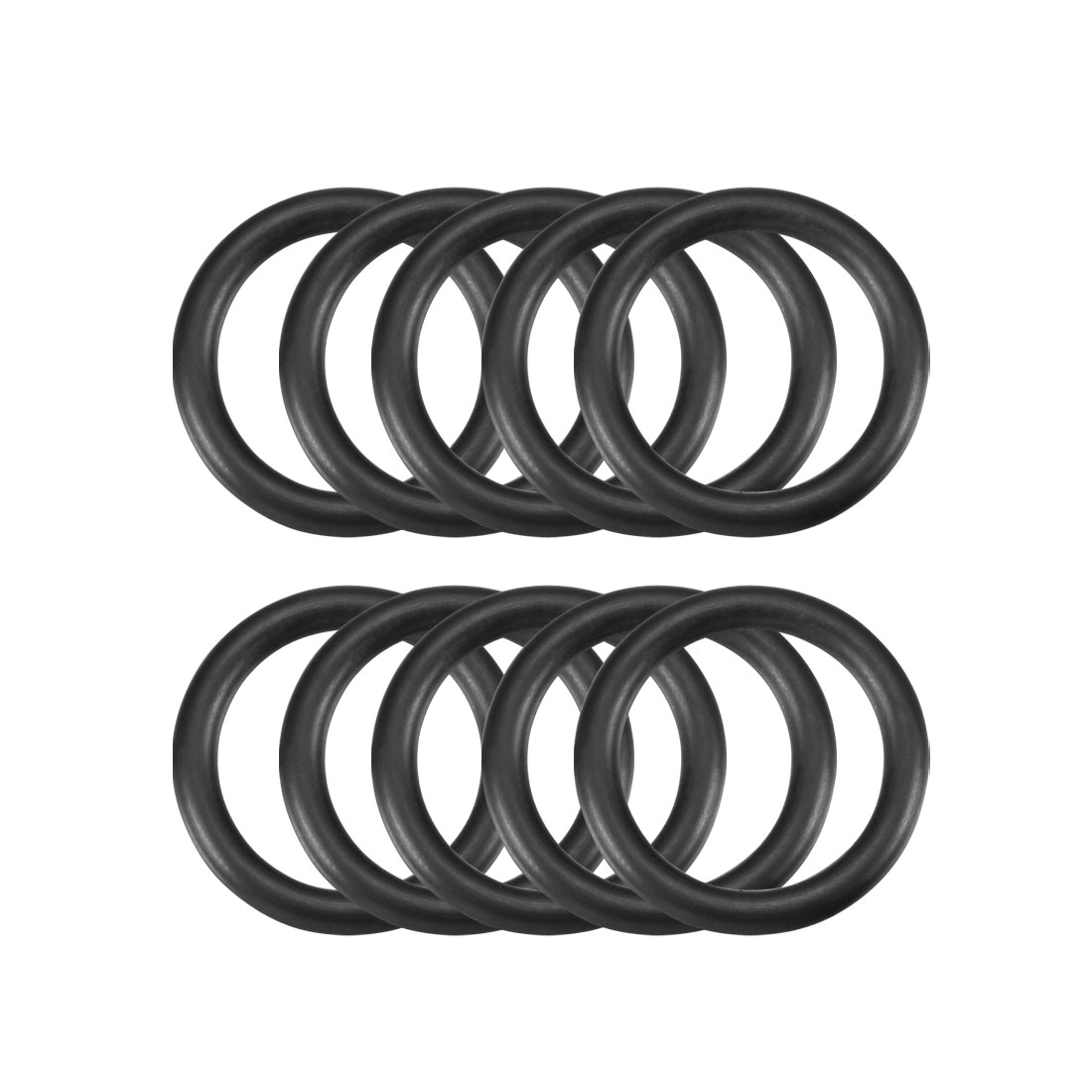 10 Pcs 24mm x 17mm x 3.1mm Mechanical Rubber O Ring Oil Seal Gaskets