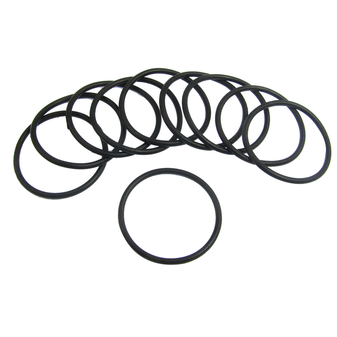 10 Pcs 37.5mm x 2.65mm Black Silicone O Rings Oil Seals Gaskets