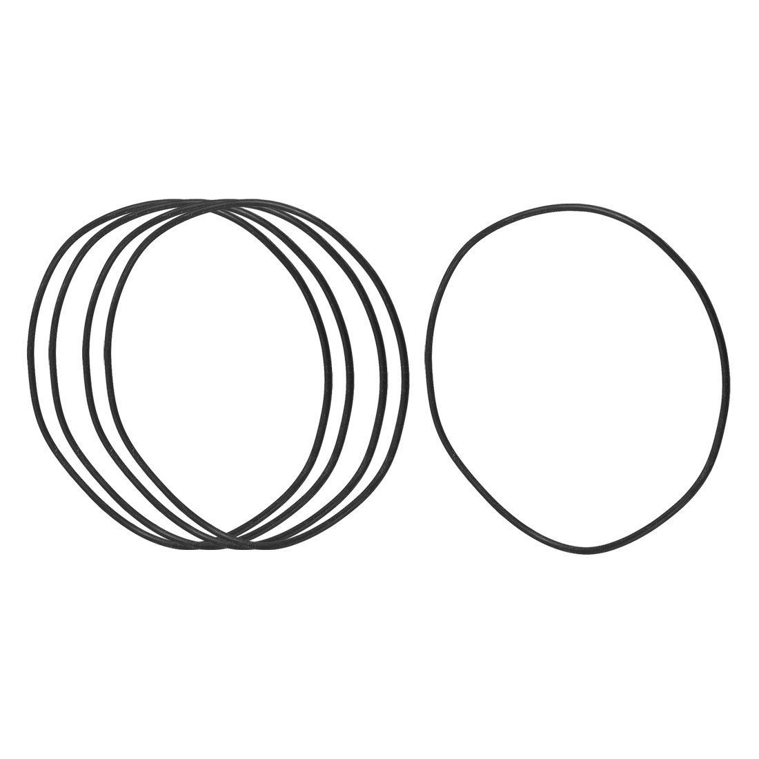 5 Pcs 130mm x 124mm x 3.1mm Mechanical Rubber O Ring Oil Seal Gaskets Black