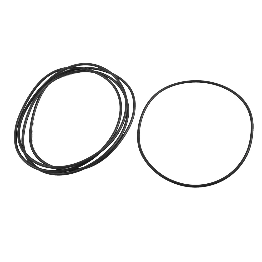 5 Pcs 125mm x 119mm x 3.1mm Rubber Sealing Oil Filter O Rings Gaskets Black