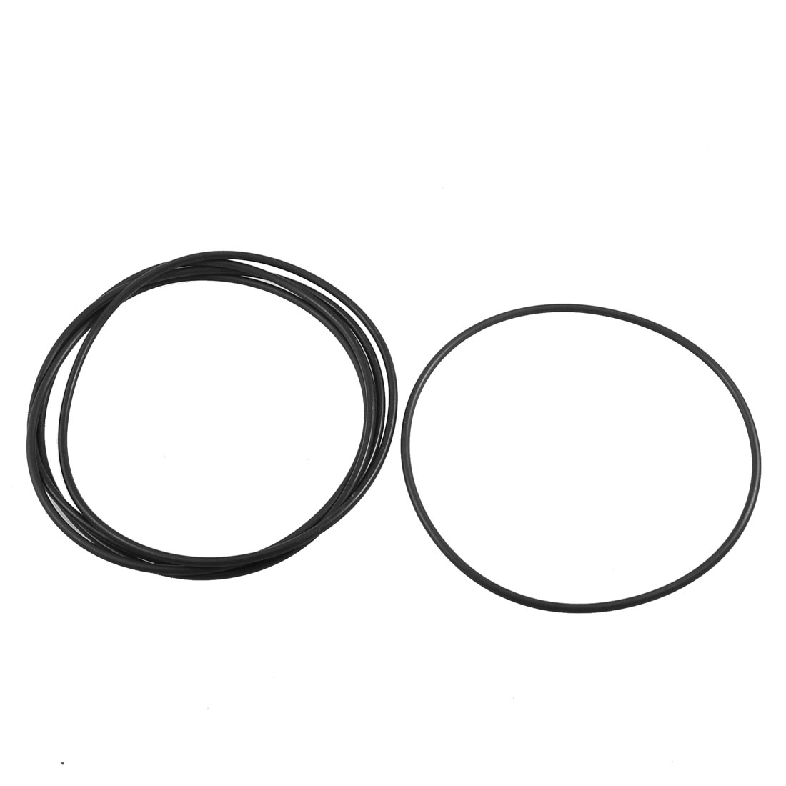 5 Pcs Mechanical Flexible Rubber O Ring Oil Seal Gaskets 115mm x 109mm x 3.1mm