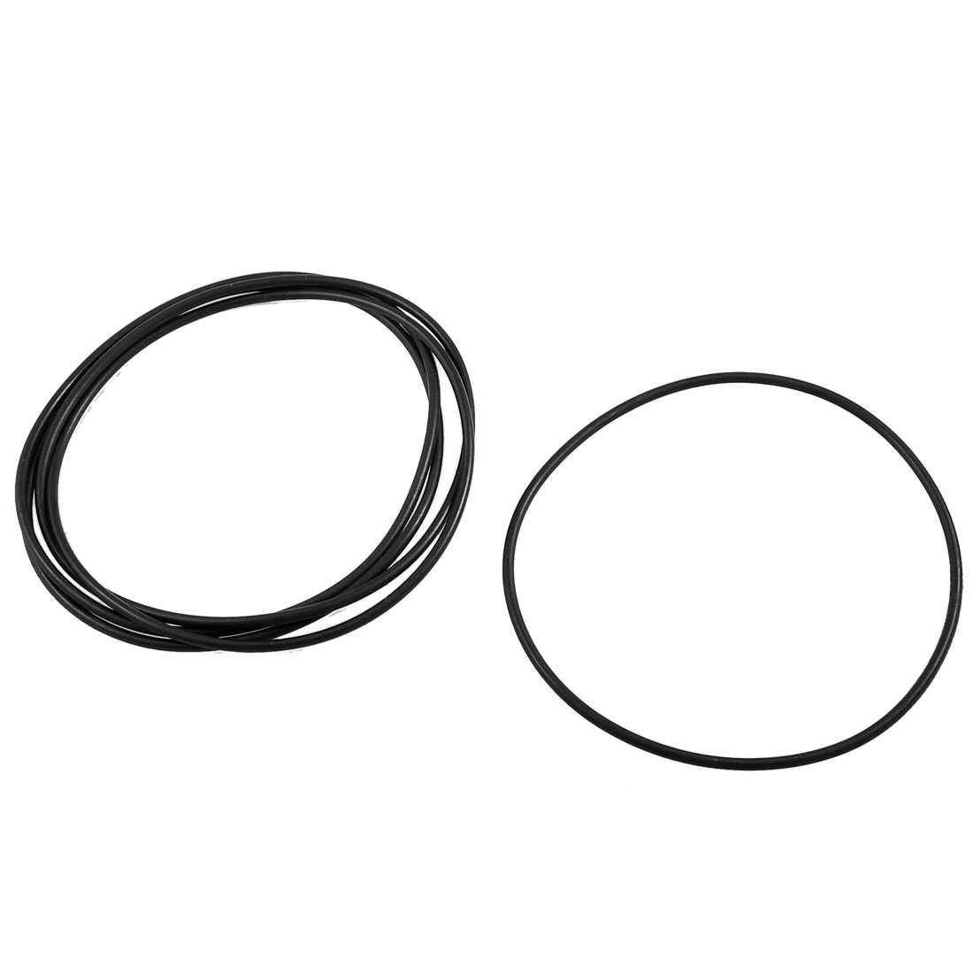 5 Pcs 110mm x 104mm x 3.1mm Industrial Rubber O Ring Oil Seal Gaskets Black