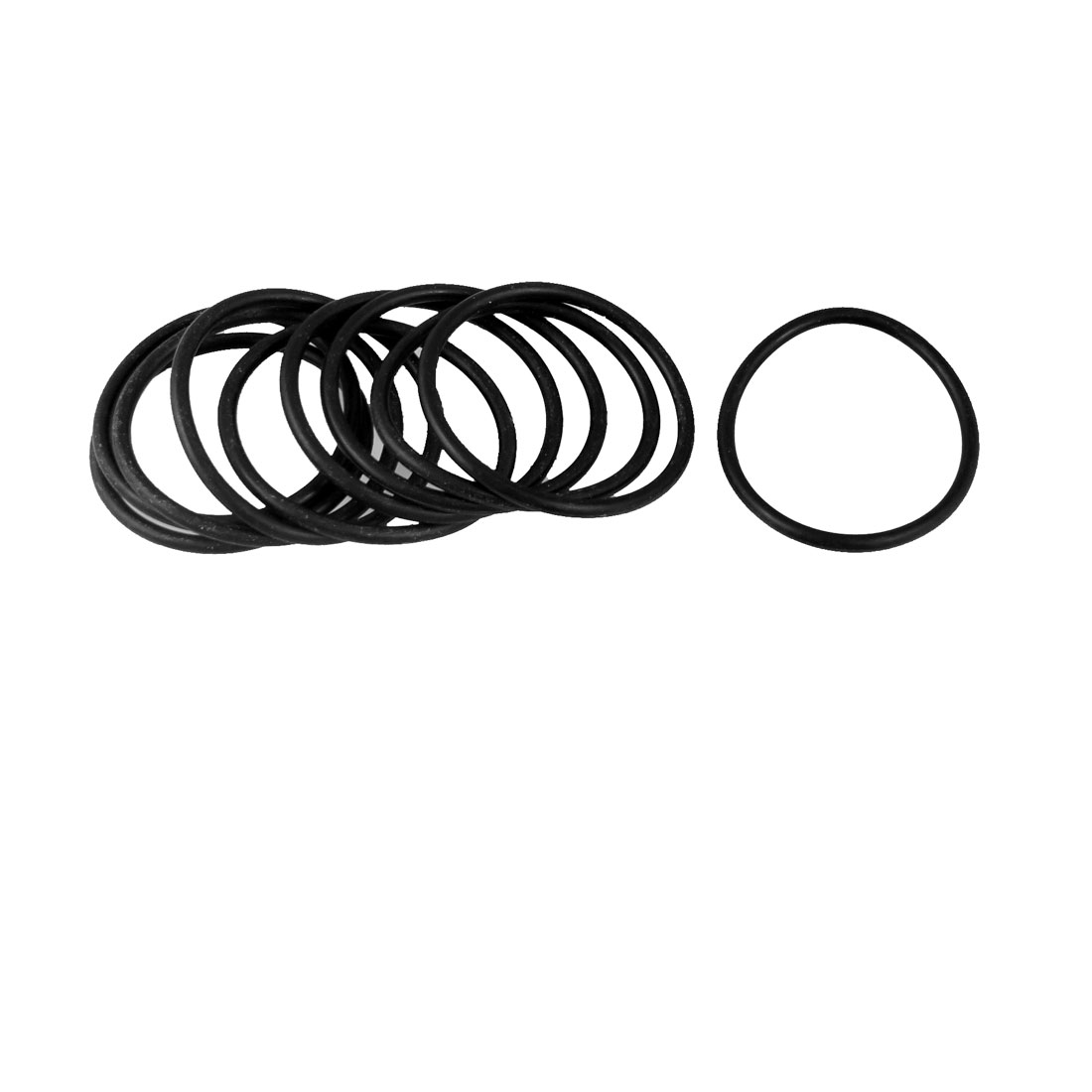 38.7mm x 2.65mm x 33.4mm Rubber Sealing Oil Filter O Rings Gaskets 5 Pcs