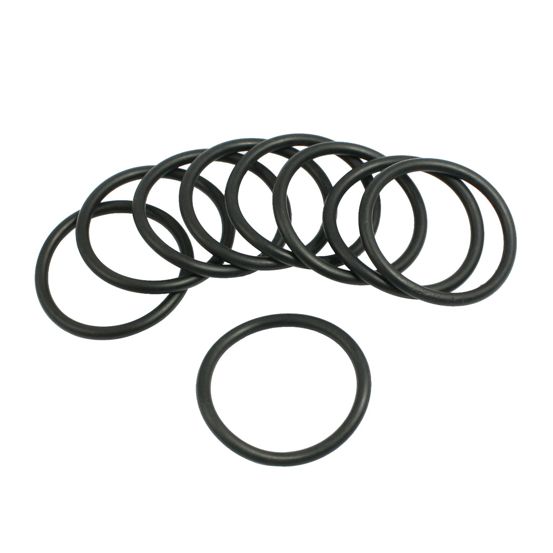10 Pcs 26.5mm x 2.65mm Black Silicone O Rings Oil Seals Gaskets