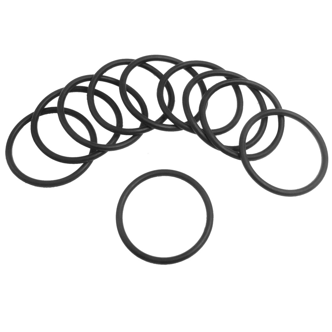 10 Pcs 30mm x 2.65mm Black Silicone O Rings Oil Seals Gaskets