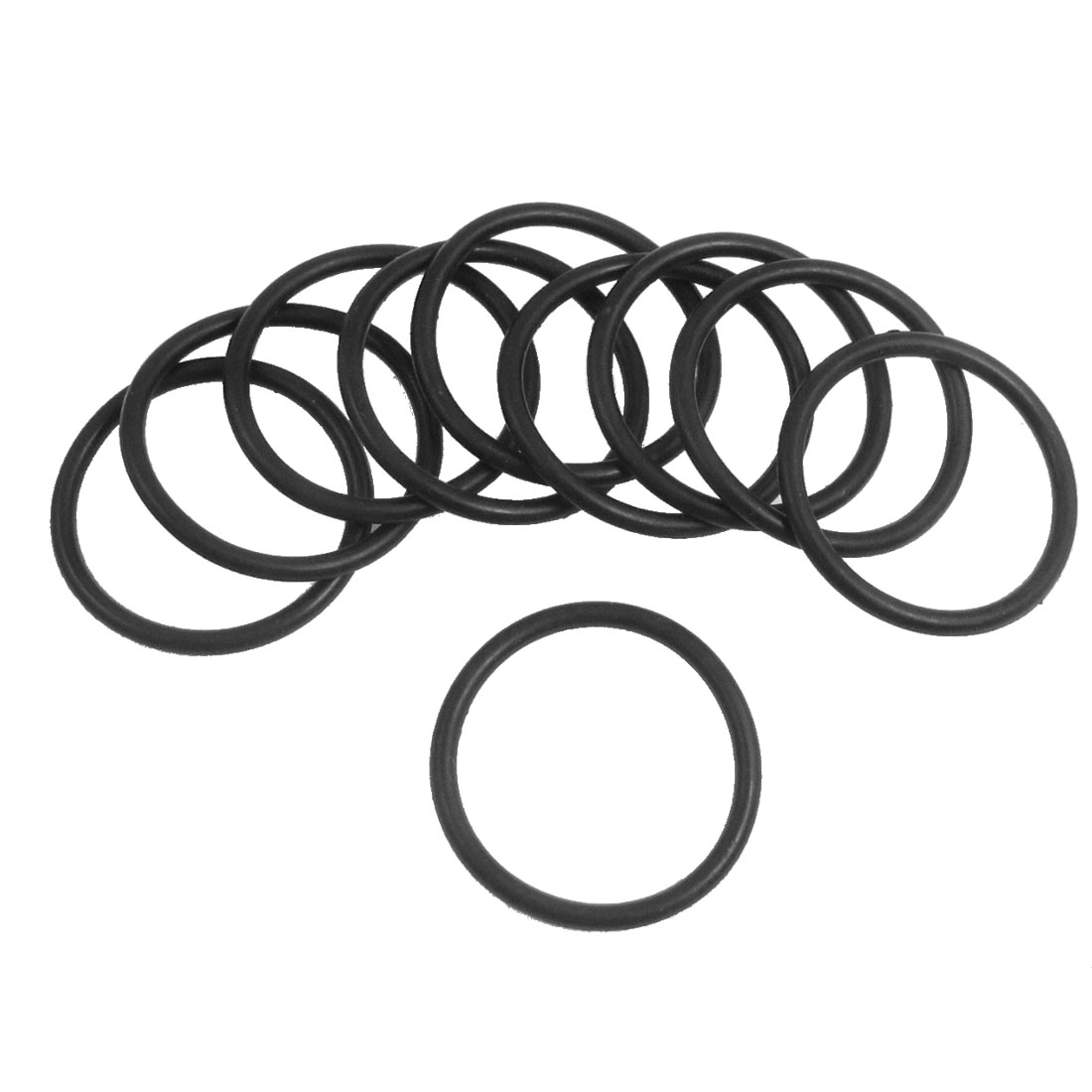 10 Pcs 28mm x 2.65mm Black Silicone O Rings Oil Seals Gaskets
