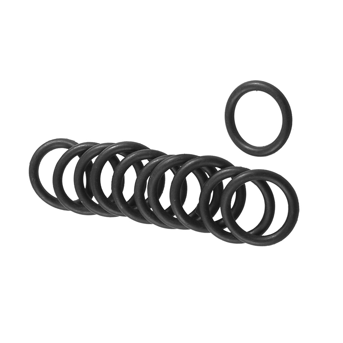 10 Pcs 16mm x 10mm x 3mm Mechanical Black Rubber O Ring Oil Seal Gaskets