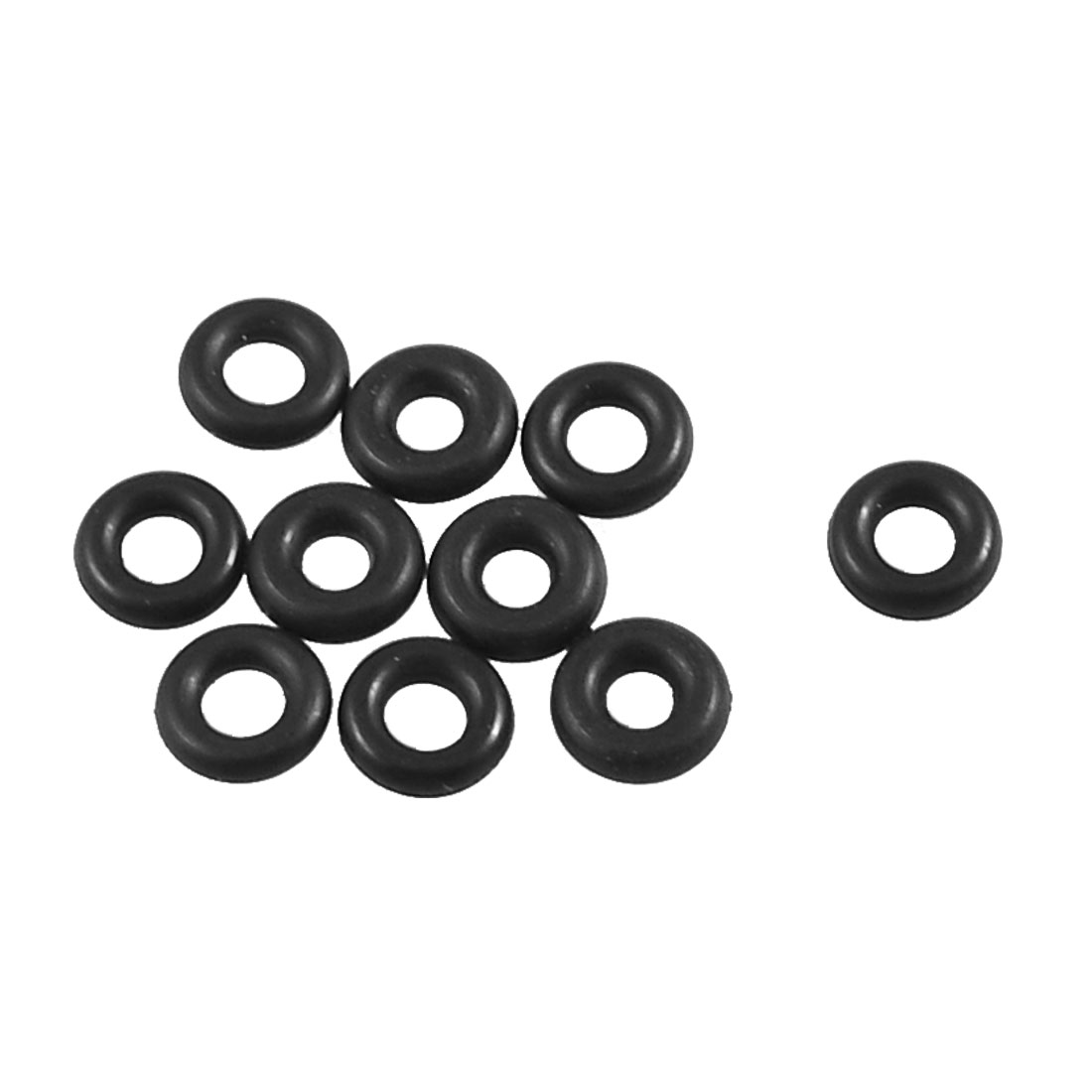 10 Pcs 11mm x 5mm x 3.1mm Mechanical Rubber O Ring Oil Seal Gaskets Black