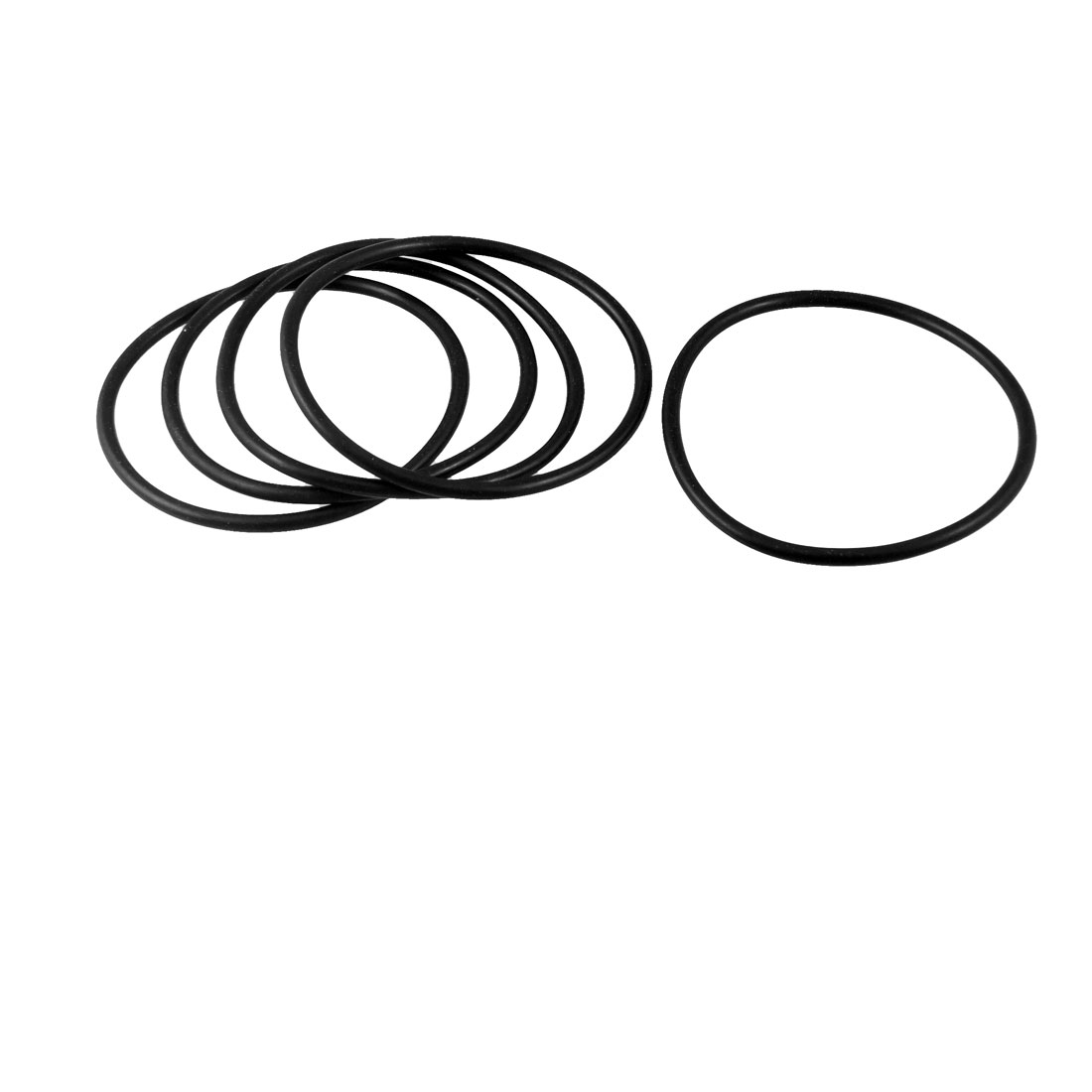 67mm x 3.5mm x 60mm Rubber Sealing Oil Filter O Rings Gaskets 5 Pcs