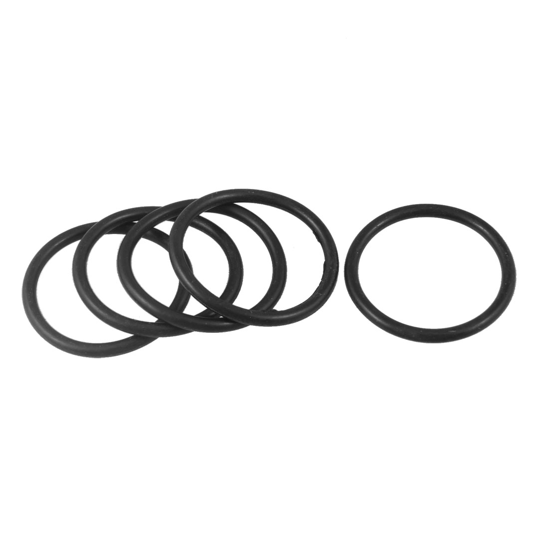 42mm x 3.5mm x 35mm Rubber Sealing Oil Filter O Rings Gaskets 5 Pcs