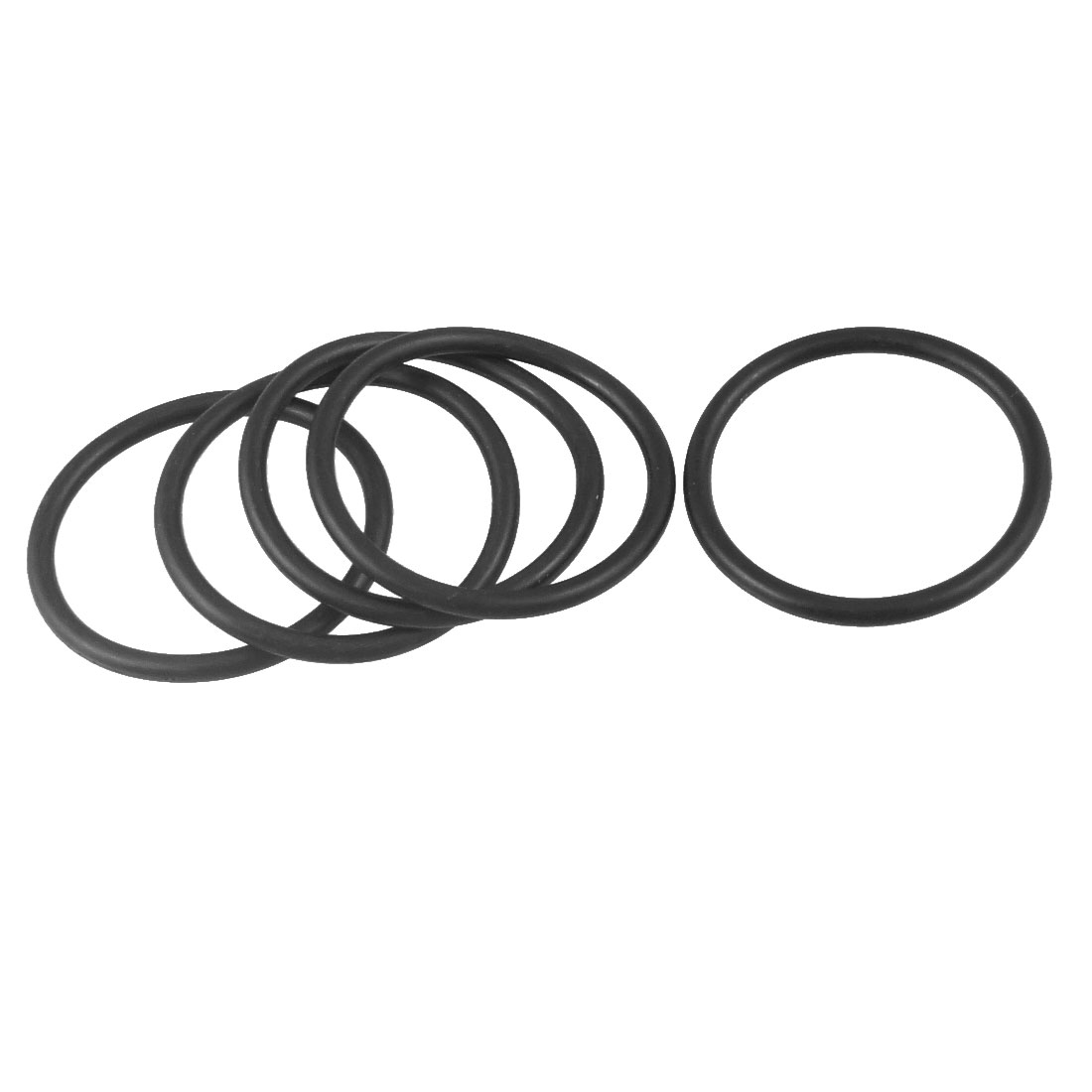 5 Pcs 45mm x 38mm x 3.5mm Industrial Rubber O Ring Oil Seal Gaskets