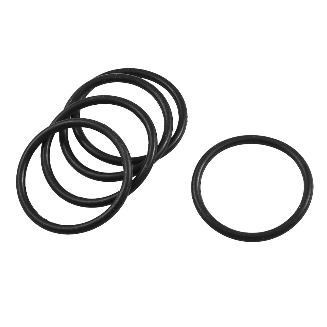 5 Pcs 44mm x 37mm x 3.5mm Mechanical Flexible Rubber O Ring Oil Seal Gaskets