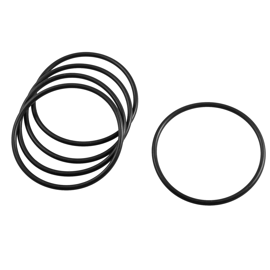 5 Pcs Black Rubber Sealing Oil Filter O Rings Gaskets 75mm x 68mm x 3.5mm