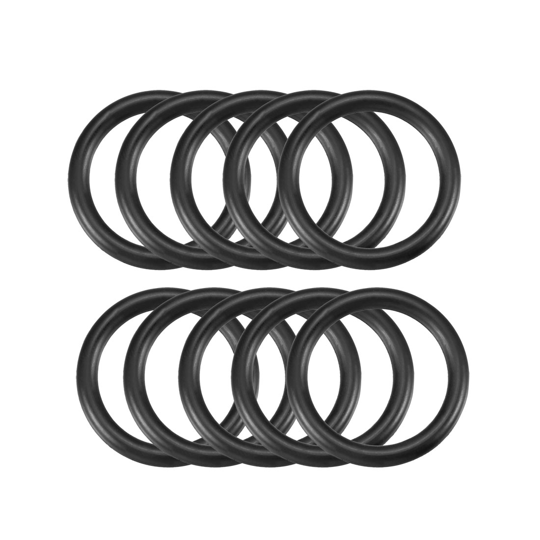 10 Pcs 30mm x 3.5mm Black Silicone O Rings Oil Seals Gaskets
