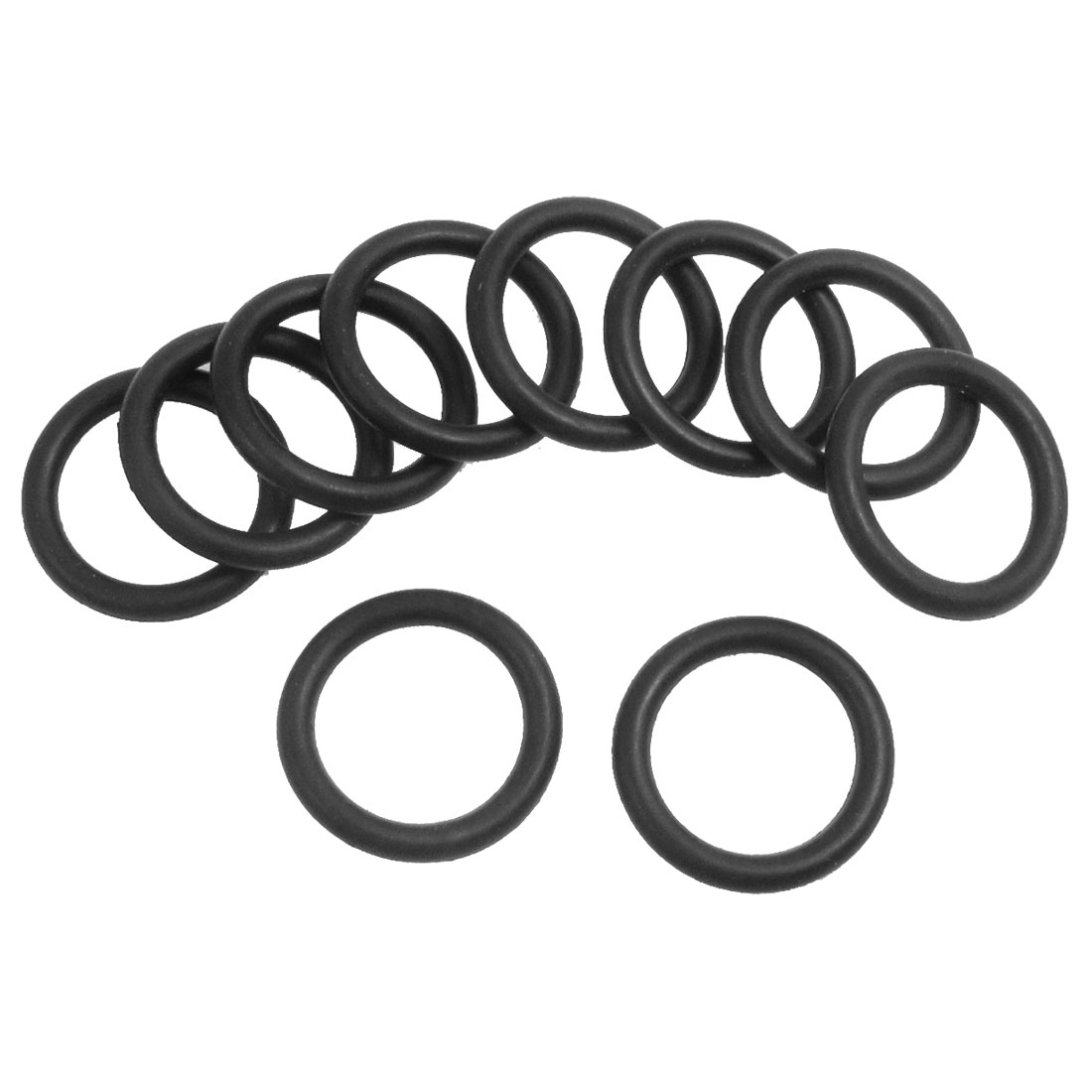 10 Pcs 19mm x 3.5mm Black Rubber O Rings Oil Seals Gaskets